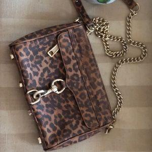 Rebecca Minkoff mini MAC  crossbody leopard print